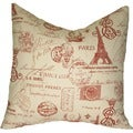 Taylor Marie Studio French Stamp in Paris Throw Pillow Cover
