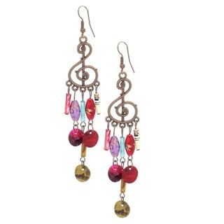 Bleek2Sheek Bohemian Music Note Dangle Earrings