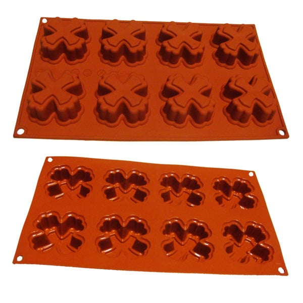 Chocolate Candy Cake Cross Shaped 8-cavity Silicone Mold/ Baking Pan
