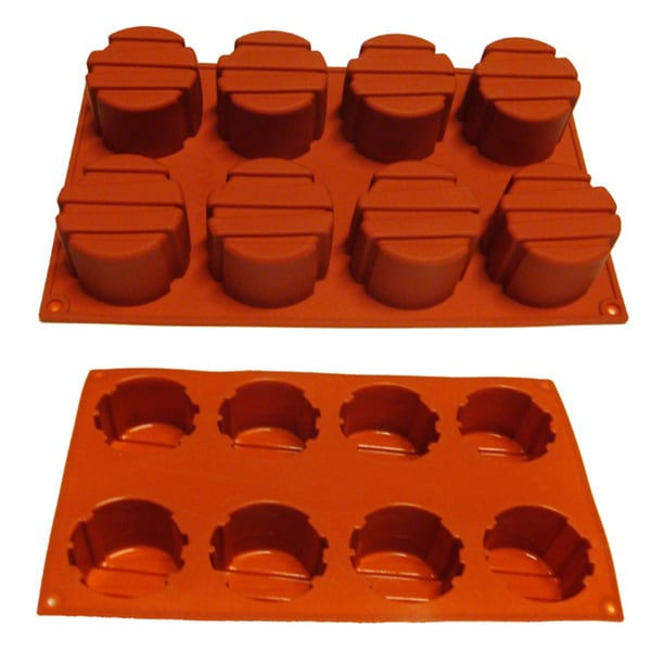 Parallel Line Cake 8-cavity Silicone Mold/ Baking Pan
