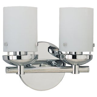 Sea Gull Lighting Two-Light Chrome Wall/ Bath Fixture