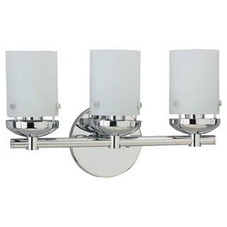 Sea Gull Lighting Three-Light Chrome Wall/ Bath Fixture
