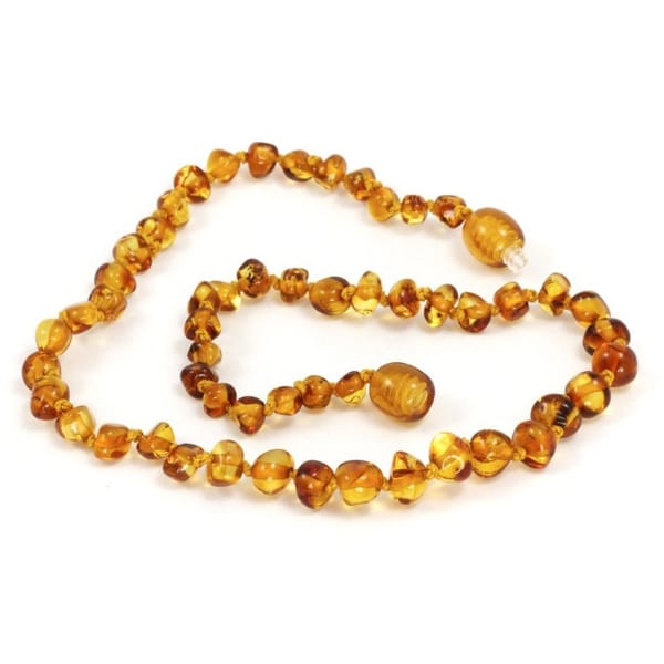 Momma Goose Baltic Amber Baroque Honey Teething Necklace