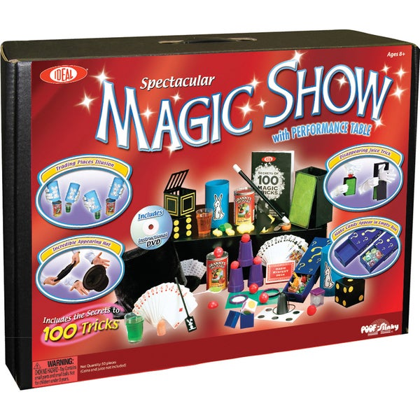 Poof-Slinky Spectacular Magic Show 100+ Trick Ultimate Magic Suitcase