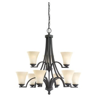 Sea Gull Lighting Somerton 9-light Blacksmith Chandelier