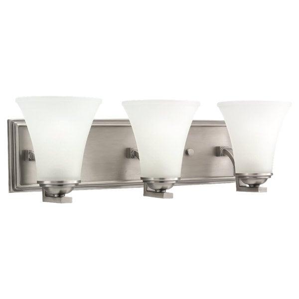 Bathroom Vanity Light Bar : ... Gull Lighting Somerton 3-light Antique Brushed Nickel Bath Bar Vanity