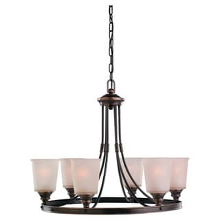 'Warwick' Vintage Bronze 6-Light Single Tier Chandelier
