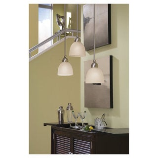 'Metropolis' Brushed Nickel 1-Light Mini Pendant