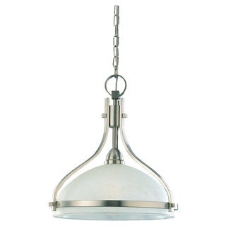 'Eternity' Brushed Nickel 1-Light Pendant