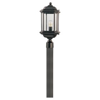 Sea Gull Lighting Kent 1-light Black Outdoor Post Lantern