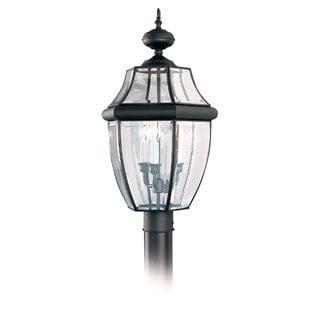 Sea Gull Lighting Lancaster 3-light Black Outdoor Post Lantern