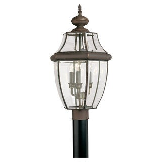 Sea Gull Lighting Lancaster 3-light Antique Bronze Outdoor Post Lantern