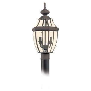 Sea Gull Lighting Lancaster 2-light Bronze Outdoor Post Lantern