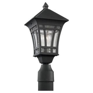 Sea Gull Lighting Herrington 1-light Black Outdoor Post Lantern