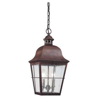 Sea Gull Lighting Chatham 2-light Weathered Copper Outdoor Pendant