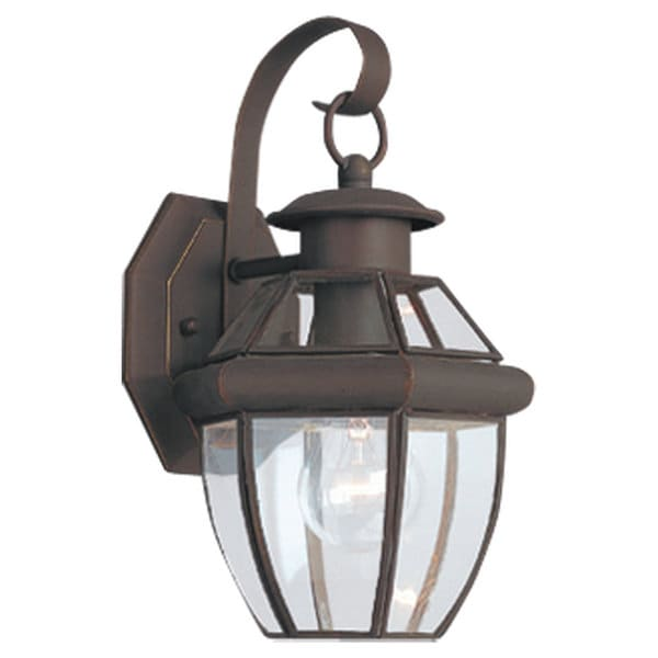 Sea gull lighting lancaster 1 light bronze classic outdoor for Classic home lighting