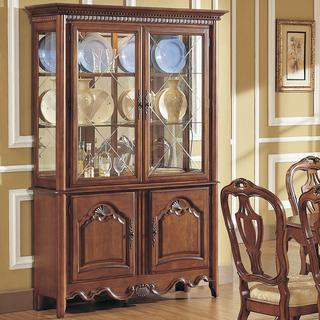 Vendome Chestnut Finish China Cabinet