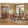 Vendome 7-piece Chestnut Veneer Dining Set with China Cabinet