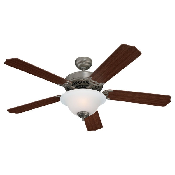Sea Gull Lighting Quality Max Plus 52-inch Brushed Nickel Ceiling Fan with Bowl Light