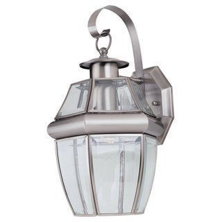Sea Gull Lighting Lancaster 1-light Brushed Nickel Outdoor Wall Lantern
