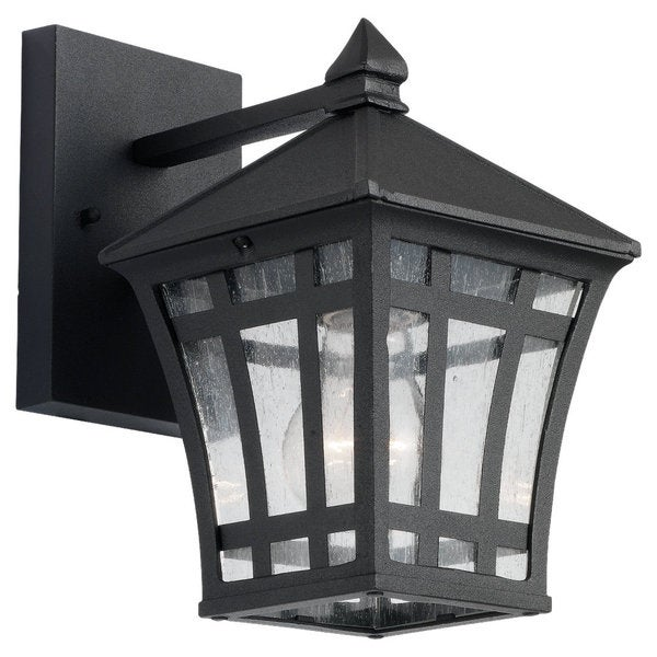Sea Gull Lighting Herrington Black 1-light Outdoor Wall Lantern