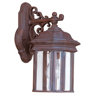 Sea Gull Lighting Hill Gate Rust Patina 1-light Outdoor Wall Lantern