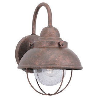 Sea Gull Lighting Sebring Weathered Copper Outdoor Wall Lantern