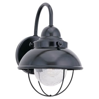 Sea Gull Lighting Sebring Black 100-Watt Outdoor Wall Lantern
