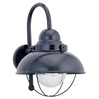 Sea Gull Lighting Sebring Black Outdoor Wall Lantern
