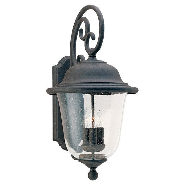 Sea Gull Lighting Trafalgar Oxidized Bronze 3-light Outdoor Lantern