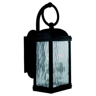 Sea Gull Lighting Branford Obsidian Mist Two-Light 40-Watt Outdoor Lantern