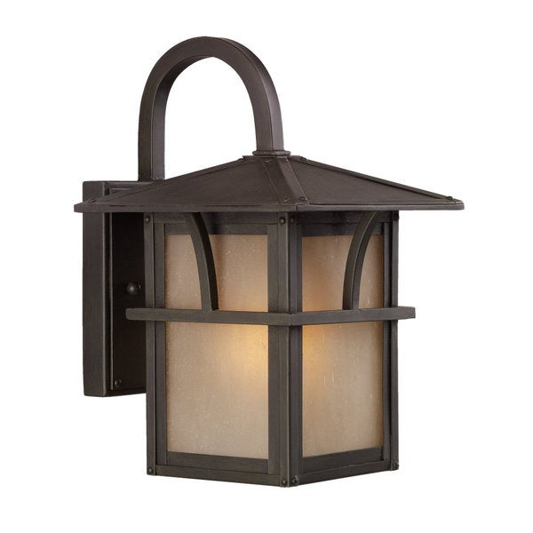 sea gull lighting medford statuary bronze one light outdoor wall mount. Black Bedroom Furniture Sets. Home Design Ideas