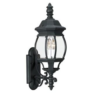 Wynfield 2-Light Black Wall Lantern