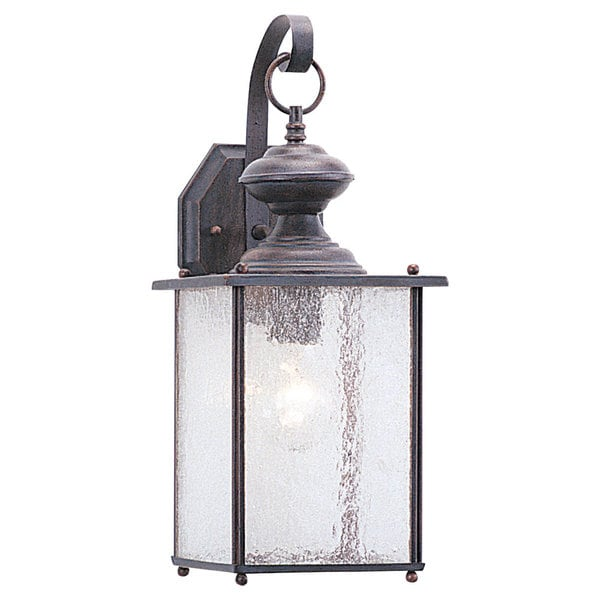 Jamestowne One-Light Outdoor Brown Wall Lantern