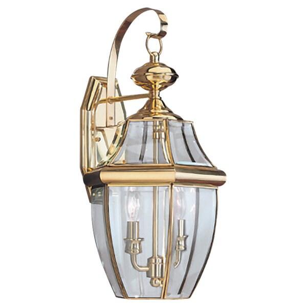 Lancaster Brass Outdoor 2-Light Wall Lantern