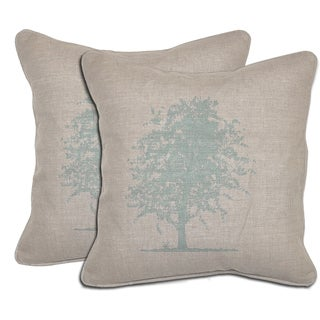 Villa Linen Tree Silhouette Printed Throw Pillows (Set of 2)