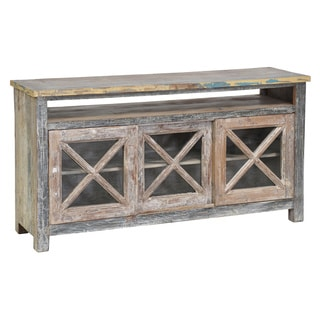 Snipe Reclaimed Wood 3-door TV Stand