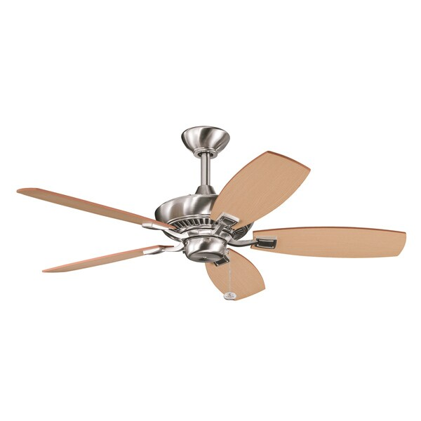 Brushed Stainless Steel 5-Blade Ceiling Fan