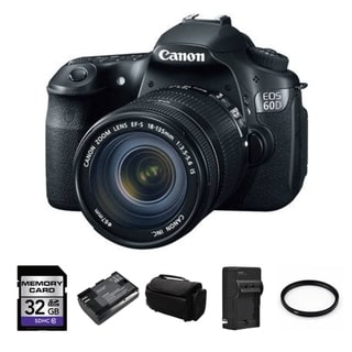 Canon EOS 60D 18MP Digital SLR Camera with EFS 18-135mm Lens Bundle