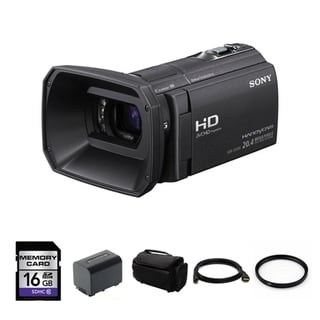 Sony HDR-CX580V Full HD 32GB Flash Memory Camcorder Bundle