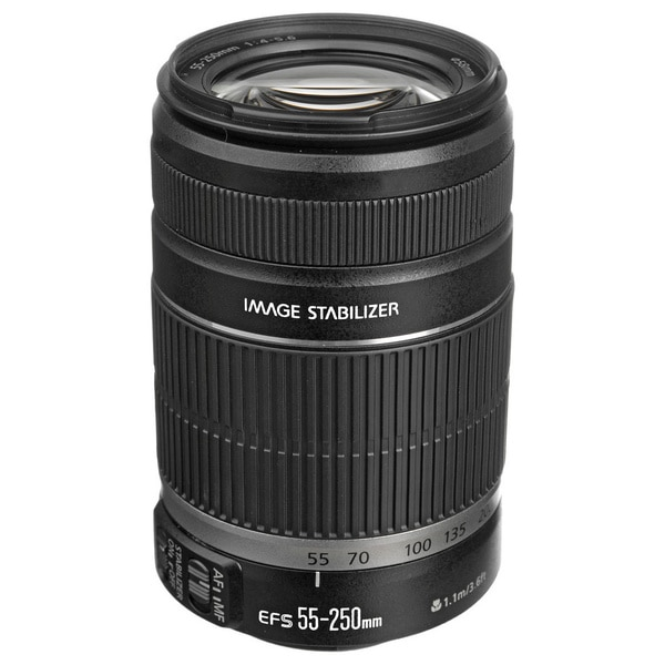 Canon EF-S 55-250mm f/4-5.6 IS Telephoto Zoom Lens (New in Non-Retail Packaging)