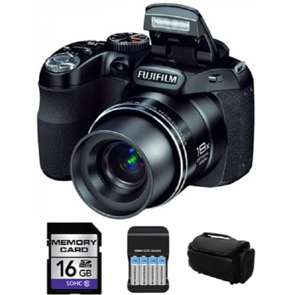 Fuji Film FinePix S2980 14MP Digital Camera 16GB Bundle