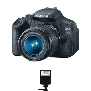 Canon EOS Rebel T3i DSLR Camera/ 18-55MM IS Lens/ Digital Flash Bundle
