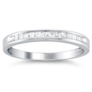 Montebello 14k White Gold 1/4ct TDW Princess-cut Diamond Wedding Band (G-H, VS1-VS2)