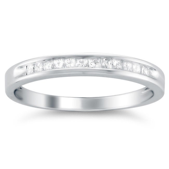14k White Gold 1/4ct TDW Princess-cut Diamond Wedding Band (G-H, VS1-VS2) at Sears.com