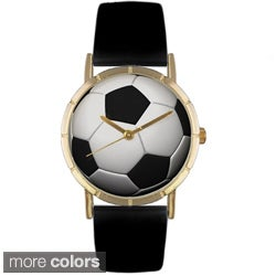 Whimsical Women's 'Soccer Lover' Photo Watch