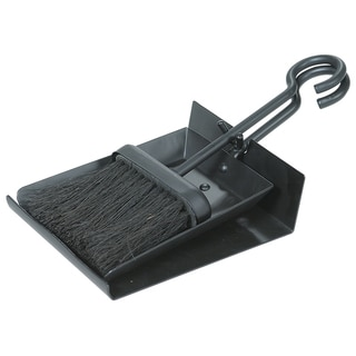 Uniflame Black Fireplace Shovel And Brush Set