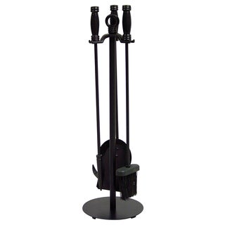 Rlue Rhino UF Black Wrought Iron 4-piece Fire Tool Set