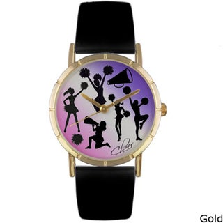 Whimsical Women's 'Cheerleading Lover' Leather Strap Watch