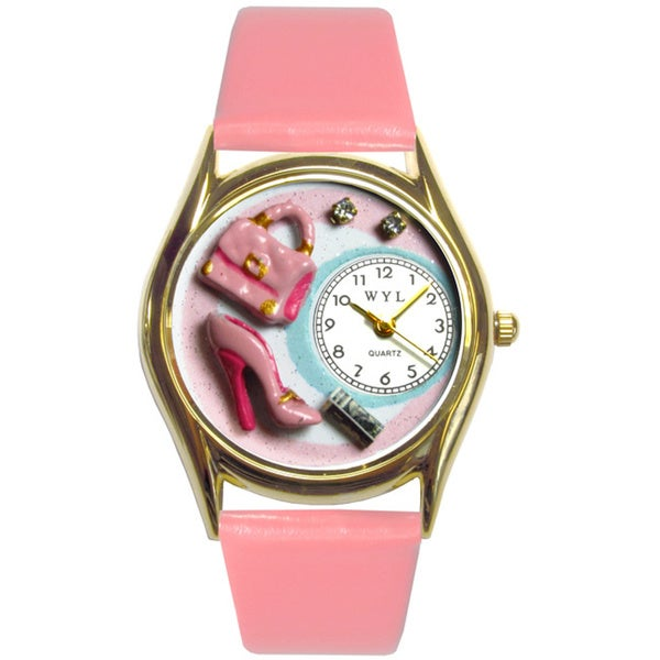Shopper Mom Pink Leather Watch